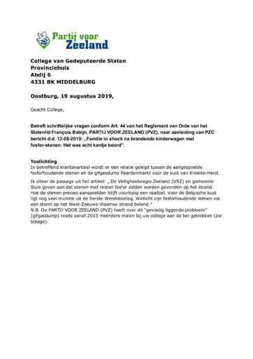 Art 44 vragen fosforstenen